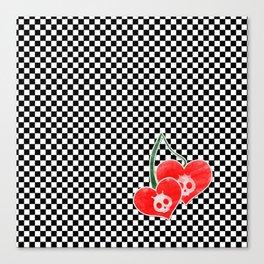 Heart Cherry Skullz Canvas Print