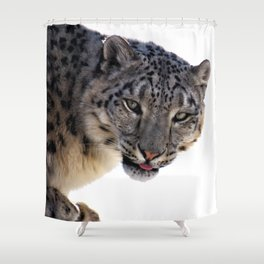 Léopard des neiges Shower Curtain