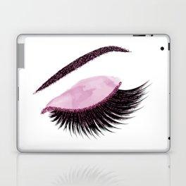 Glittery burgundy lashes Laptop & iPad Skin