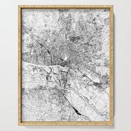 Hamburg White Map Serving Tray