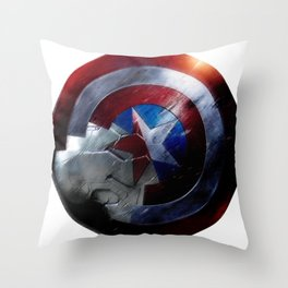 Bucky and Steve  Throw Pillow