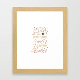Traditional Sweet Layered Cake Framed Art Print