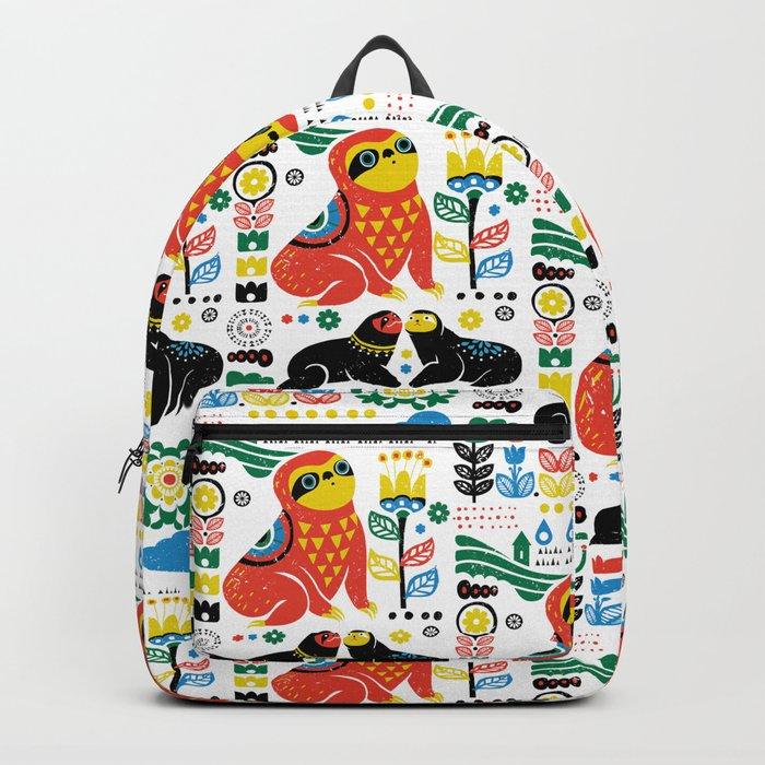 Scandinavian Sloths Backpack