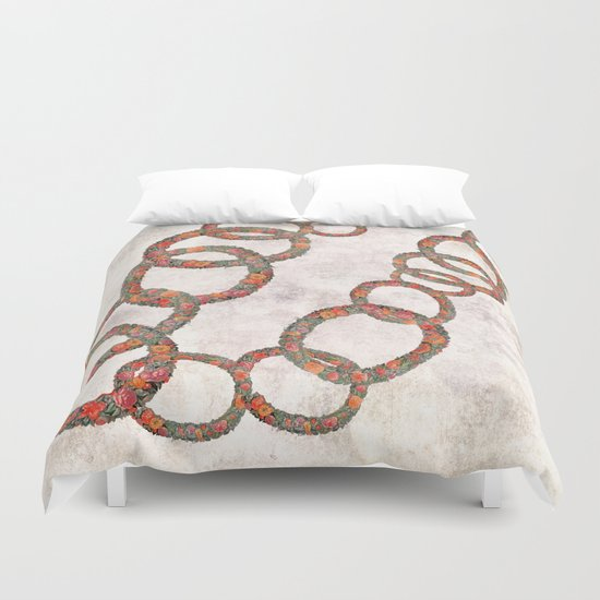 Woman in chains Duvet Cover