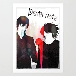 Death Note 2Ls Art Print