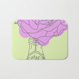 Rose and lemonade Bath Mat