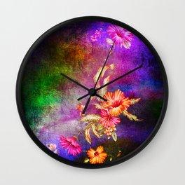 flowers cp Wall Clock