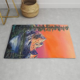 Mountains in Canada Rug