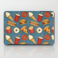 junk food iPad Cases featuring Fast Food by Tracie Andrews