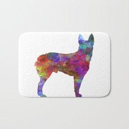 Australian Stumpy Tail Cattle Dog in watercolor Bath Mat