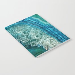 Aqua turquoise agate mineral gem stone - Beautiful Backdrop Notebook