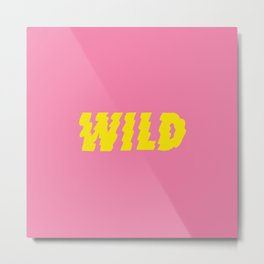 Wild – Pink and Yellow Metal Print