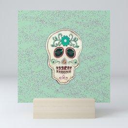 Fringy Flower Skull Mini Art Print