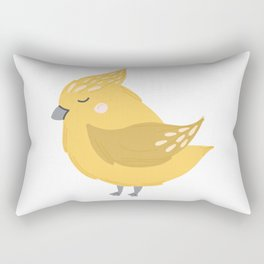 Yellow Birdie Rectangular Pillow