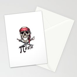 Pirate Funny Math Pun Pi Day Gift Math Science Lover Pi day Stationery Cards