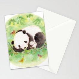 with mama panda Stationery Cards