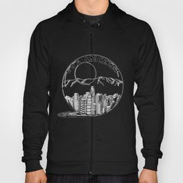 Los Angeles in a glass ball . Artwork Hoody