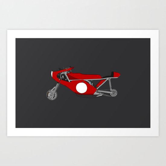 Race Motorcycle Art Print