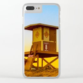 lifeguard tower Clear iPhone Case
