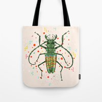 insect Tote Bags featuring Insect V by dogooder