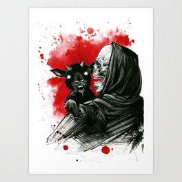 Mama´s little devil Art Print