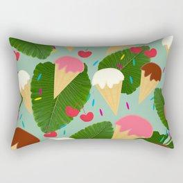 Tropical Ice Cream Rectangular Pillow