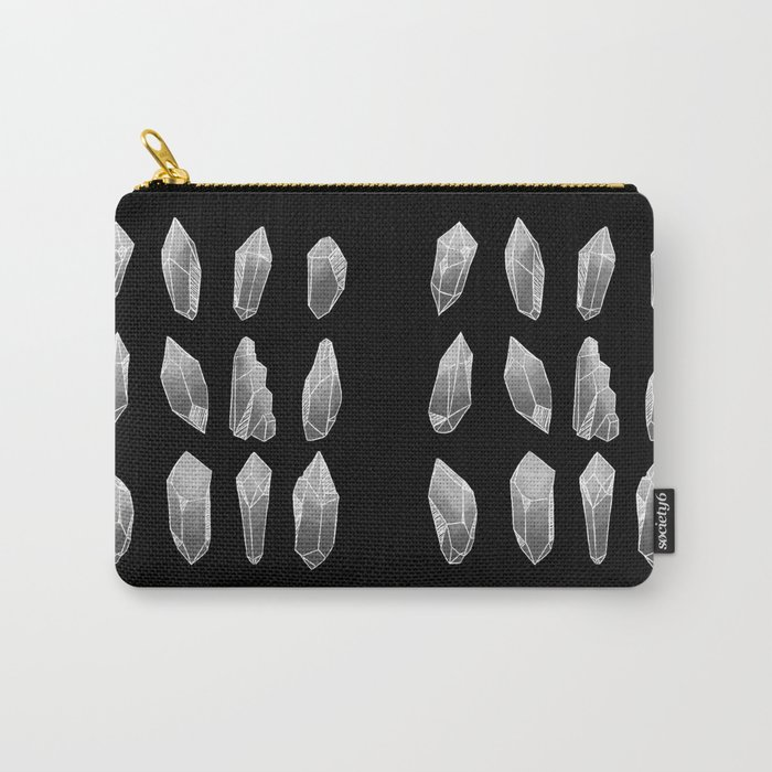 Grey Crystals Carry-All Pouch