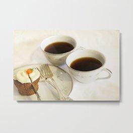 Cake and Coffee Metal Print