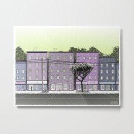 Generative Streetscape 3 Metal Print