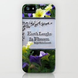 Earth's Laughter iPhone Case