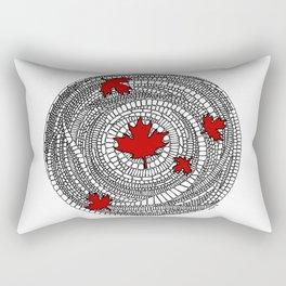 Canadian Maple Red Rectangular Pillow