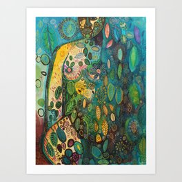 Kissed by the sky Art Print