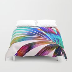 Multicolor Palm Leaf Duvet Cover