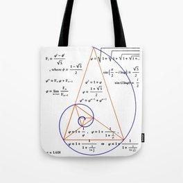 Golden Triangle / Logarithmic Spiral Tote Bag