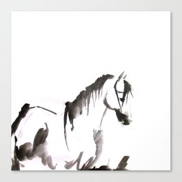 Watercolor Horse Painting Canvas Print
