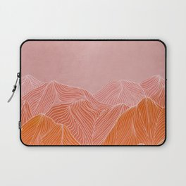 Lines in the mountains - pink II Laptop Sleeve
