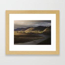 Clouds, Land, Water Framed Art Print