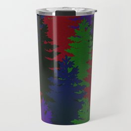 Misty Pine Trees Travel Mug