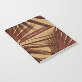 Burgundy and Coffee Tropical Beach Palm Vector Notebook