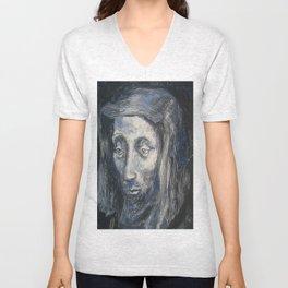 Face of Jesus Unisex V-Neck