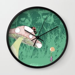 Tilly and the Ladybug Wall Clock