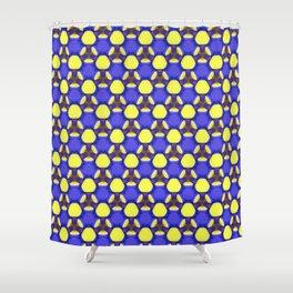Blue labyrinth Shower Curtain