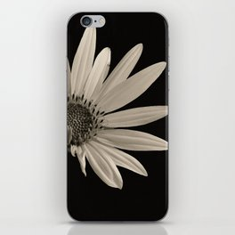 Black And White Sunflower iPhone Skin