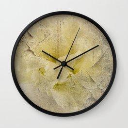 Vintage Lisianthus Wall Clock