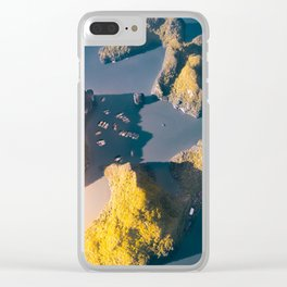 Tiny boats, big rocks Clear iPhone Case