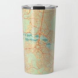 Canberra Map Retro Travel Mug