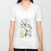 dragonball V-neck T-shirts featuring Dragonball Z - Honor by Straife01
