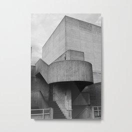 National Theatre | London United Kingdom by Sir Denys Lasdun Architect Metal Print