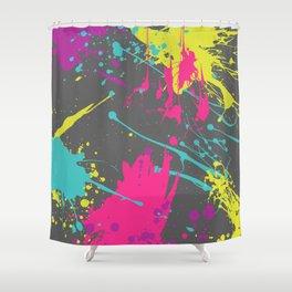 Splatter Paint Grey Shower Curtain