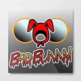 """Bad Bunny """"El Conejo Malo"""" Metal Print"""